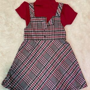 3/$12 Wonder Nation Plaid Jumper School Dress 4/5